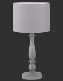 Dekoracyjna lampka stołowa na drewnianej nodze Hood