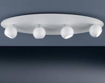 Owalny plafon sufitowy z czterema reflektorami Dakota