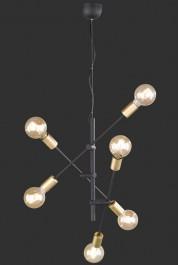 Regulowana lampa wisząca bez klosza Cross