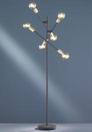 Regulowana lampa podłogowa bez klosza Cross