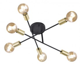 Regulowana lampa przysufitowa bez klosza Cross
