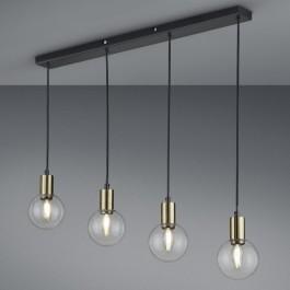 Szeroka lampa w stylu loft z czterema kloszami Nacho