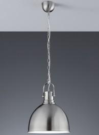 Loftowa lampa wisząca w kolorze niklu Jasper
