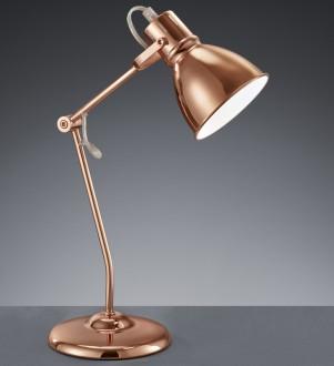 Loftowa lampka biurkowa z metalu w kolorze miedzianym Jasper