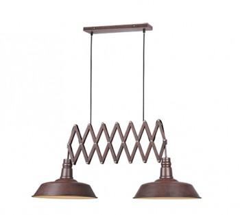 Industrialna lampa wisząca z regulacją szerokości Detroit