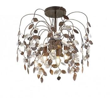 Lampa sufitowa w stylu glamour z motywem liści Napoli