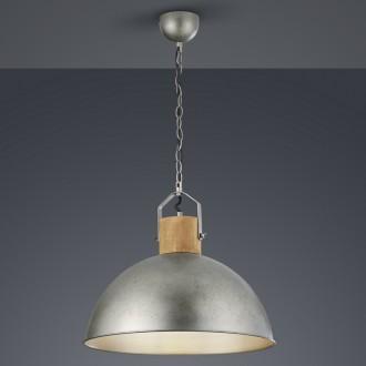 Rustykalna lampa wisząca z metalowym kloszem Delhi