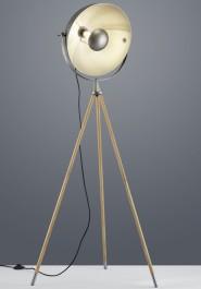 Rustykalna lampa stojąca na trzech nogach Delhi