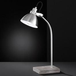 Metalowa lampa biurkowa na dekoracyjnej podstawie Timber