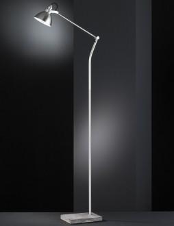 Regulowana lampa podłogowa na dekoracyjnej podstawie Timber