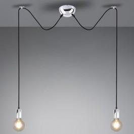 Dwuczęściowa lampa wisząca bez klosza Cord