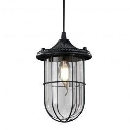 Wisząca lampa w stylu loft ze szkła i metalu Birte