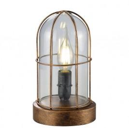Loftowa lampa stołowa ze szkła i metalu Birte