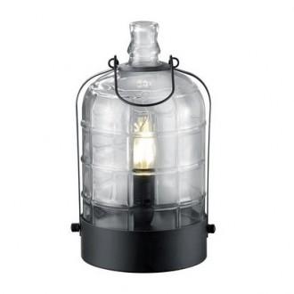 Loftowa lampka stołowa ze szklanym kloszem Astrid