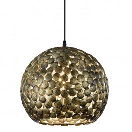 Wisząca lampa kulista z okrągłymi dekorami metalowymi Frieda patyna