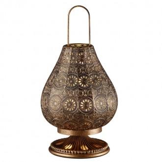 Orientalna lampka stołowa z dekoracyjnym kloszem Jasmin