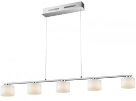 Regulowana lampa jadalniana z pięcioma kloszami Alegro