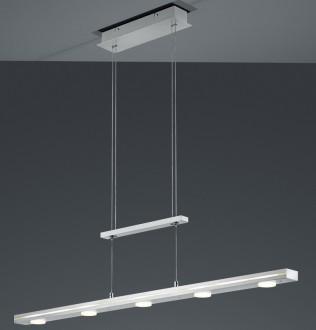 Regulowana lampa wisząca LED do jadalni Lacal nikiel