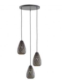 Elegancka lampa wisząca Onyx z trzema kloszami w formie kropli