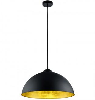 Czarna lampa wisząca z metalu Romino II