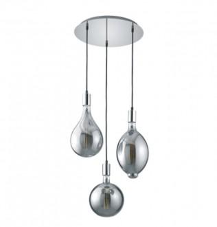 Trzyczęściowa lampa na okrągłej podstawie Ginster