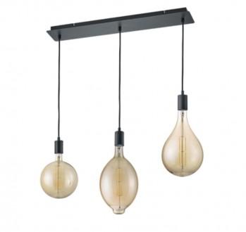 Trzyczęściowa lampa na prostokątnej podstawie Ginster