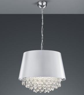 Wisząca lampa z dekoracyjnym kloszem tkaninowym Loreley