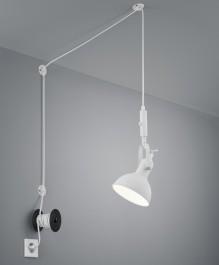 Regulowana lampa z półotwartym reflektorkiem Carlotta
