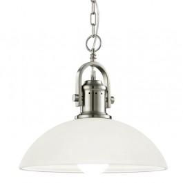 Loftowa lampa z białym kloszem szklanym Montender