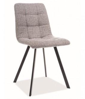 Tapicerowane krzesło na metalowych nogach Clip