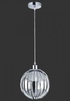 Chromowana lampa wisząca w kształcie kuli Zucca