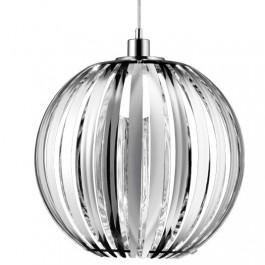 Chromowana lampa z wiszącym kloszem akrylowym Zucca