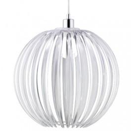 Wisząca lampa Zucca z transparentnym kloszem akrylowym
