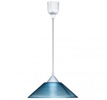 Szklana lampa z dekorowanym kloszem Diego
