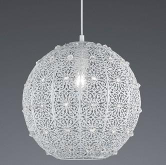 Wisząca lampa Bajo z dekoracyjnym kloszem w kształcie kuli