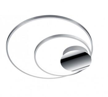 Ledowy plafon Sedona alu w formie podwójnego ringu