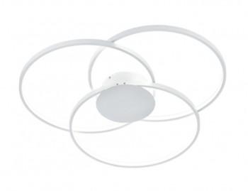 Potrójny plafon ledowy Sedona biały w formie ringów