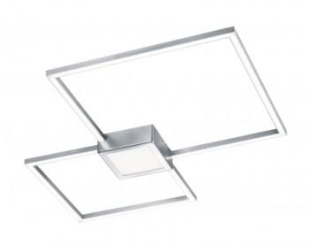 Podwójny plafon kwadratowy LED Hydra nikiel