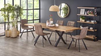 Rozkładany stół Xavier z blatem w okleinie naturalnej