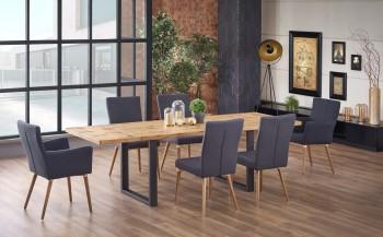 Industrialny stół Perez z rozkładanym blatem