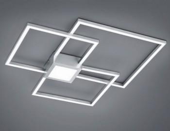 Potrójny plafon kwadratowy LED Hydra nikiel mat