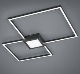 Podwójny plafon kwadratowy LED Hydra antracyt