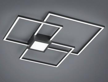 Potrójny plafon kwadratowy LED Hydra antracyt