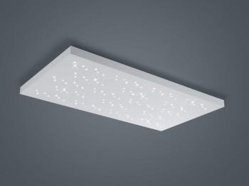 Biały plafon prostokątny LED Titus w stylu glamour