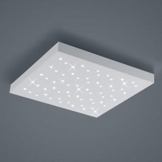 Biały plafon kwadratowy LED Titus 50 w stylu glamour