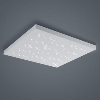 Biały plafon kwadratowy LED Titus 75 w stylu glamour