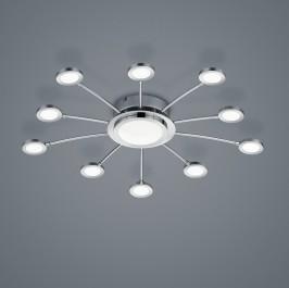 Regulowana lampa sufitowa Bodrum z dziesięcioma źródłami światła