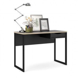 Czarne biurko z szufladą Function Plus Small