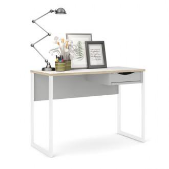 Białe biurko z szufladą Function Plus Small