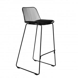 Wysokie krzesło barowe z metalu Dill High